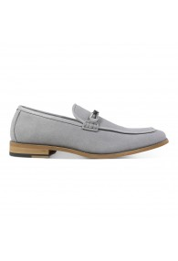 STACY ADAMS COLBIN SLIP ON GRAY SUEDE