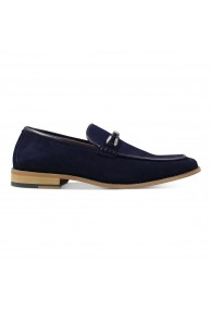 STACY ADAMS COLBIN SLIP ON NAVY SUEDE