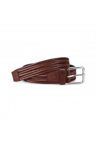 BORN LEA STRCH BRAID BELT DK BROWN