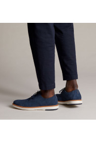 CLARKS DRAPER LACE NAVY SUEDE
