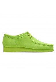 CLARKS WALLABEE LIME SUEDE