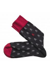 JOHNSTON & MURPHY SCULL&CROSSBONES BLACK/RED