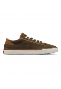 CLARKS ACELEY LACE OLIVE SUEDE