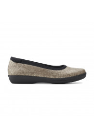 CLARKS AYLA LOW TAUPE SNAKE