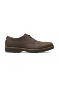 CLARKS BAYHILL PLAIN DARK BROWN NUB