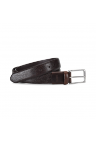 BORN PEBBLED COMFORT BELT DK BROWN