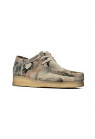 CLARKS WALLABEE OFF WHITE CAMO