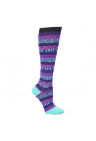 COMFORTIVA COMPRESSION SOCKS BLK/PUR
