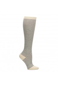 COMFORTIVA COMPRESSION SOCKS BEIGE HEATHER