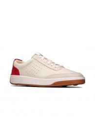 CLARKS HERO AIR LACE WHITE/RED