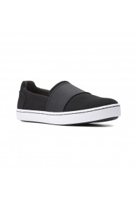 CLARKS PAWLEY WES BLACK SUEDE
