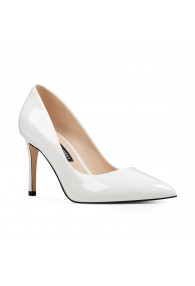 NINE WEST EZRA WHITE PATENT