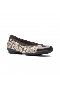 CLARKS SARA ORCHID TAUPE SNAKE
