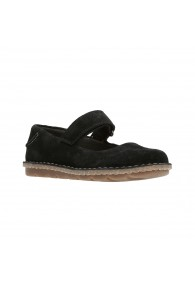CLARKS TAMITHA ASTER BLACK SUEDE