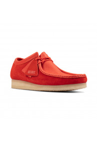 CLARKS WALLABEE RED COMBI