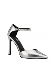 NINE WEST TITAN SILVER PATENT