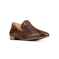 CLARKS PURE VIOLA TAN SNAKE